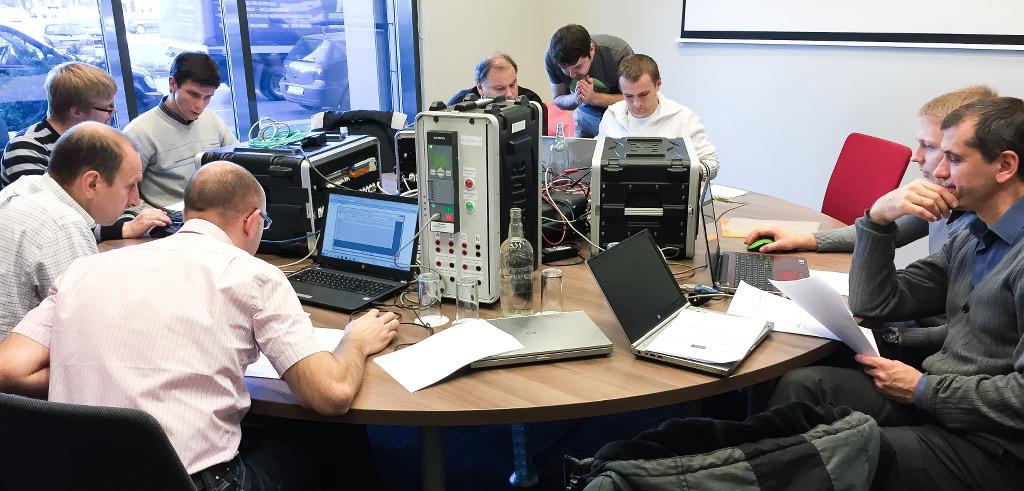 Практические занятия в рамках обучающего семинара по МЭК 61850 в Литве