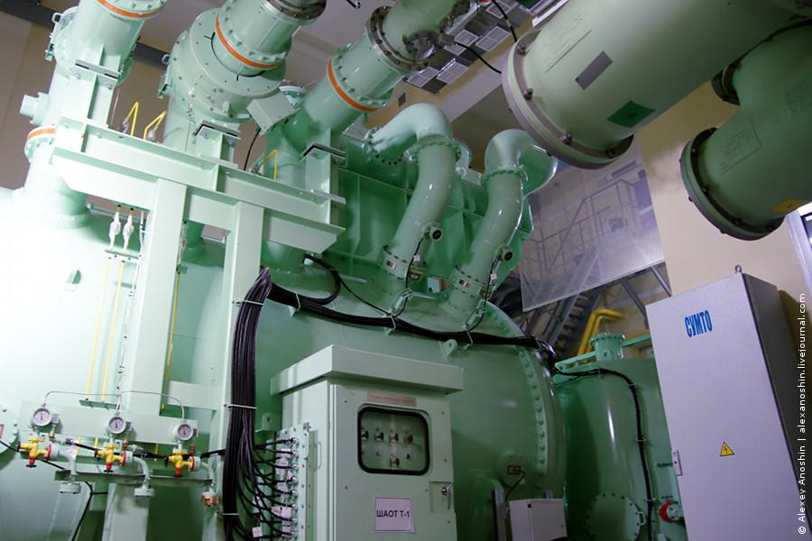 Трансформатор с элегазовой изоляцией Toshiba на ПС 220 кВ Сколково // Фото: © Alexey Anoshin   Digitalsubstation.com