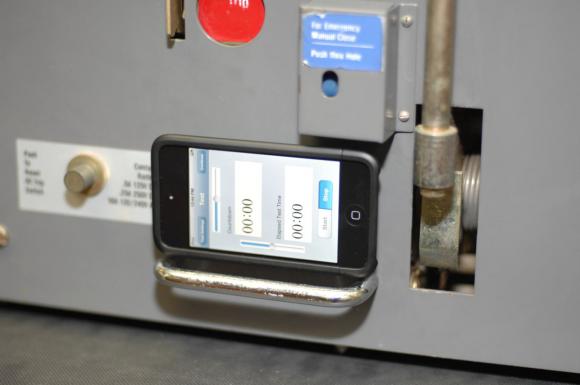 Приложение CBAnalyzer для вибрационных испытаний силовых выключателей // Фото: (с) Group CBS Inc.