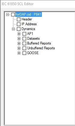 рисунок 17-Представление ICD файла, загруженного в DAPstudio